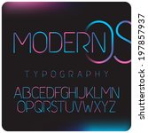 modern gradient colors font | Shutterstock .eps vector #197857937