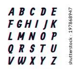 stereo alphabet | Shutterstock .eps vector #197868947
