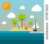 summer holidays illustration.... | Shutterstock .eps vector #197871023