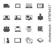 online education e learning... | Shutterstock . vector #197876417