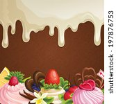sweets dessert background with... | Shutterstock . vector #197876753