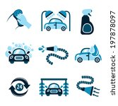 car wash auto cleaner 24h... | Shutterstock . vector #197878097