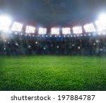 green soccer stadium ... | Shutterstock . vector #197884787