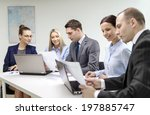 business  technology and office ... | Shutterstock . vector #197885747