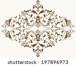 vector floral design element... | Shutterstock .eps vector #197896973