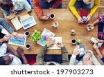 group of multiethnic designers... | Shutterstock . vector #197903273