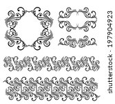 set of borders  decorative... | Shutterstock . vector #197904923