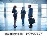 portrait of group of white... | Shutterstock . vector #197907827