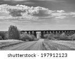 Old Railway Trestle Over Rural...