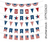 set of patriotic bunting flags. ... | Shutterstock .eps vector #197922623