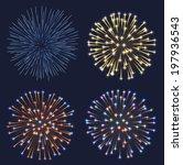 set of fireworks  eps 10... | Shutterstock .eps vector #197936543