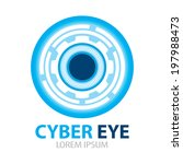 cyber eye symbol icon. vector... | Shutterstock .eps vector #197988473