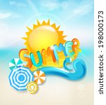 summer background   inscription ... | Shutterstock .eps vector #198000173
