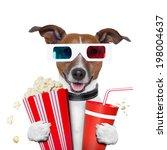 3d glasses movie popcorn dog... | Shutterstock . vector #198004637
