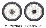 Motorcycle Wheels Isolated On...