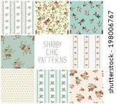 shabby chic seamless patterns...   Shutterstock .eps vector #198006767