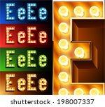 ultimate realistic lamp board...   Shutterstock .eps vector #198007337