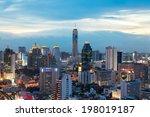 bangkok cityscape  business... | Shutterstock . vector #198019187
