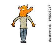cartoon fox woman | Shutterstock .eps vector #198035267