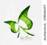 green eco unusual background... | Shutterstock .eps vector #198046397