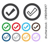 check sign icon. yes button....   Shutterstock .eps vector #198049697