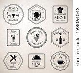 restaurant menu food and drinks ... | Shutterstock . vector #198064043