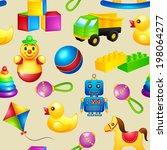 decorative children toys... | Shutterstock . vector #198064277