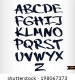 handwritten calligraphic black... | Shutterstock .eps vector #198067373