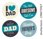 a set of retro style stickers... | Shutterstock .eps vector #198073967