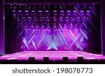 illuminated empty magenta... | Shutterstock . vector #198078773
