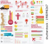 elements of info graphics on... | Shutterstock .eps vector #198098267