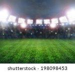 green soccer stadium ... | Shutterstock . vector #198098453