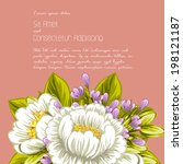 wedding invitation cards with... | Shutterstock .eps vector #198121187