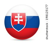 flag of slovakia as round... | Shutterstock .eps vector #198125177
