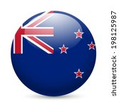 flag of new zealand as round...