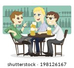 three male employee enjoy... | Shutterstock .eps vector #198126167