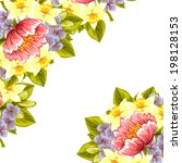 abstract flower background with ... | Shutterstock .eps vector #198128153