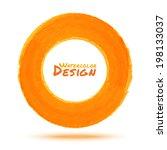 hand drawn watercolor orange...   Shutterstock . vector #198133037