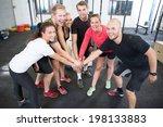 fitness workout team motivation   Shutterstock . vector #198133883