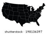 usa map in black | Shutterstock .eps vector #198136397