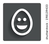 smile easter egg face sign icon....