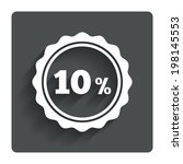10 percent discount sign icon....