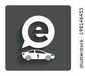 electric car sign icon. sedan...