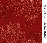 chrysanthemum tile pattern in... | Shutterstock .eps vector #198173543