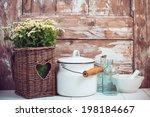 Flowers In A Wicker Basket ...