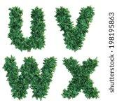 palm top view alphabet   Shutterstock . vector #198195863