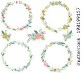 Vintage Flowers Wreath ...