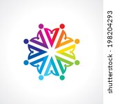 vector togetherness concept... | Shutterstock .eps vector #198204293