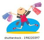 joy of shopping   Shutterstock .eps vector #198220397