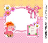 baby shower for girl with toy... | Shutterstock .eps vector #198241367